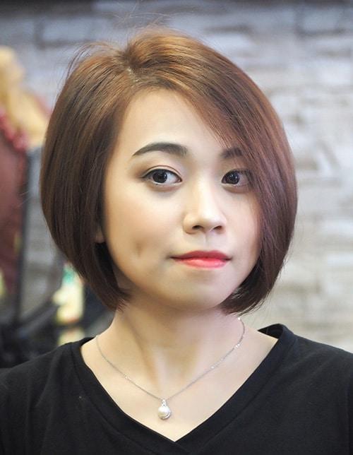 kiểu tóc ngắn cho mặt tròn 10