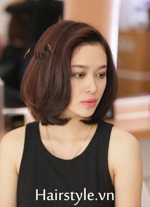 kiểu tóc ngắn cho mặt tròn 12