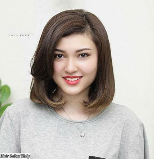 kiểu tóc ngắn cho mặt tròn 15