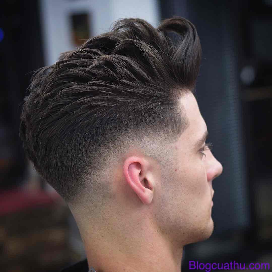 Kiểu tóc nam cắt vừa phải + Drop Fade