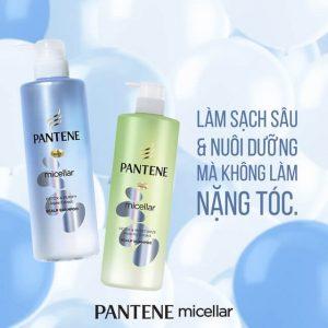 Dầu Gội Làm Sạch Sâu Chiết Xuất Tảo Biển Pantene Micellar Shampoo Detox And Purify