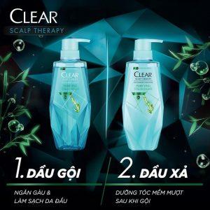 Dầu Gội Làm Sạch Da Đầu Nhờn Và Ngăn Gàu Clear Micellar Scalp Therapy Purifying Shampoo