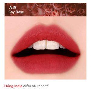 Black Rouge A18 - Coy Rose: hồng san hô