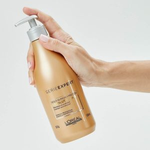 Dầu gội Loreal Serie Expert Gold Quinoa + Protein Absolut Repair Instant resurfacing shampoo cho tóc hư tổn