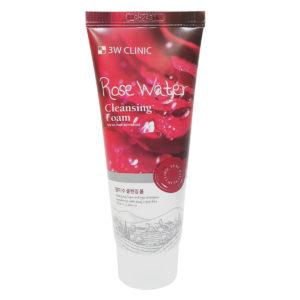 Sữa rửa mặt 3W Clinic Rose Water Cleansing Foam chiết xuất hoa hồng