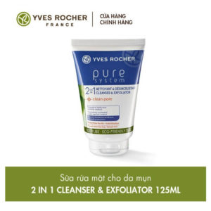 Yves Rocher Pure System: Sữa rửa mặt dành cho da mụn