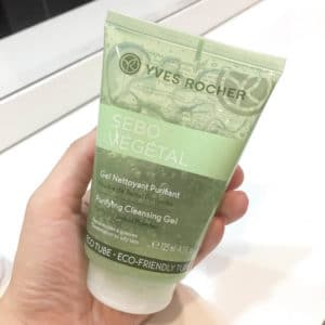 Yves Rocher Sebo Vegetal Purifying Cleansing Gel: Sữa rửa mặt cho da dầu và da hỗn hợp