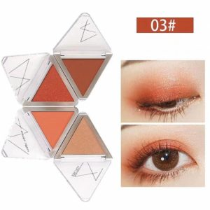 Bảng phấn mắt 4 màu Big Eye Bright Four Color Folding Eye Disc CAI JI
