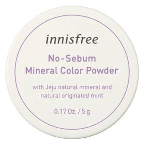 Phấn phủ kiềm dầu dạng bột khoáng có màu innisfree No Sebum Mineral Color Powder