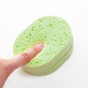 Miếng rửa mặt bông mút lô hội đàn hồi giúp làm sạch sâu phong cách Hàn Quốc