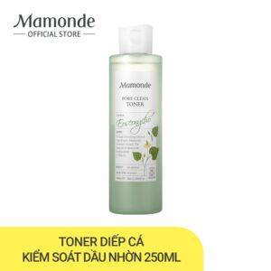 Nước hoa hồng Mamonde Pore Clean Toner từ rau diếp cá và bùn non